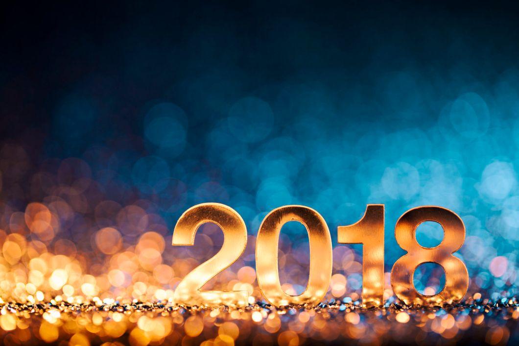 New Year Christmas Decoration 2018 - Gold Blue Party Celebration